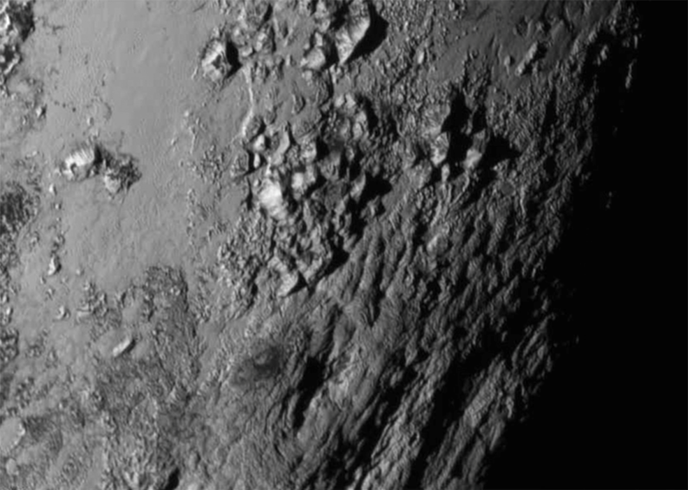 Icy Mountains of Pluto
