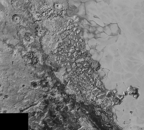 Broken, Mountainous Terrain on Pluto
