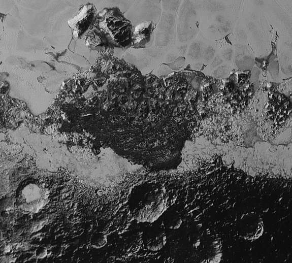 Dark Ridges on Pluto
