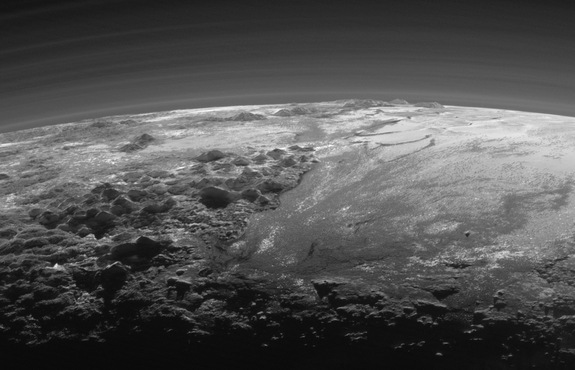 New Horizons' Zoomed-in Sunset View of Pluto