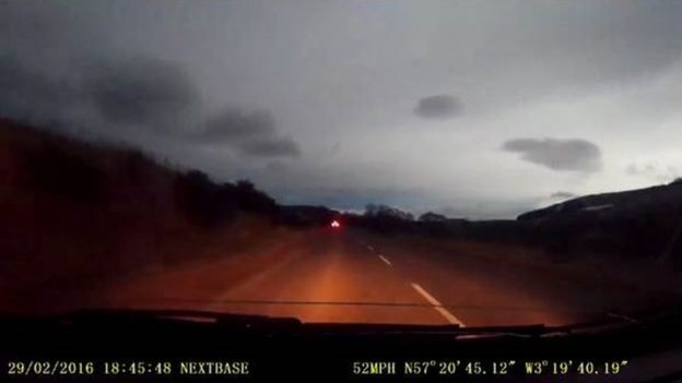 Flash in sky near Glenlivet heading towards Tomintoul