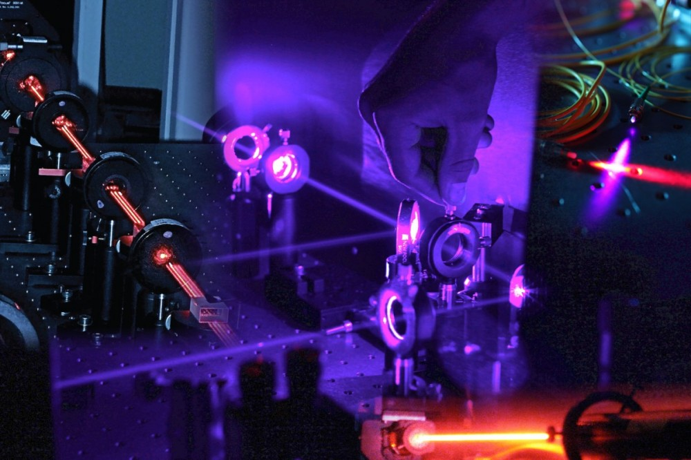 A quantum optics setup. Image credit: Matthew Broome, winner of the Australian Research Council's photo & data competition from the Centre for quantum computation and communication technology. Via http://cqc2t.org/node/6026.