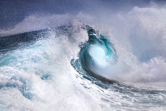 Despite their tumultuous nature, ocean waves are another example of the golden ratio manifesting in nature.