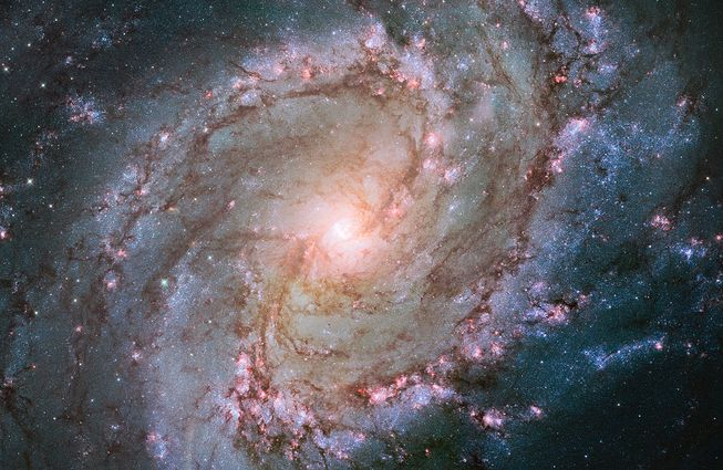 Messier 83, a spiral galaxy located 15 million light-years away from Earth.