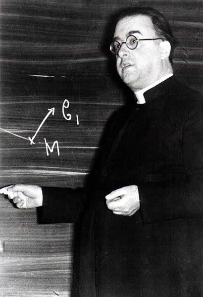 George Lemaitre, originator of the big bang theory.