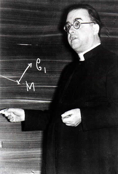 George Lemaitre, originator of the big bang theory.