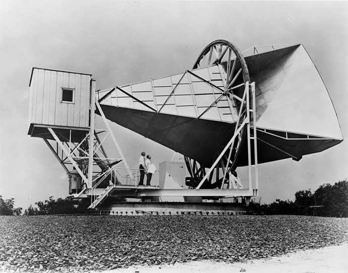 Discovery of the cosmic microwave background radiation.